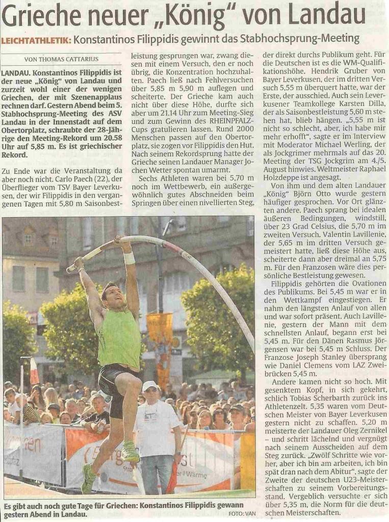 Rheinpfalz Sport 26.06.15